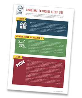 Human Givens Christmas Emotional Needs List - free download